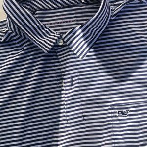 VINEYARD VINES Striped Whale Golf Polo Shirt